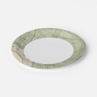 Plan of Evansville, Vanderburgh Co Paper Plate