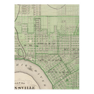 Plan of Evansville, Vanderburgh Co Postcard