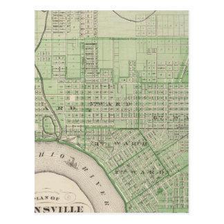 Plan of Evansville, Vanderburgh Co Postcard