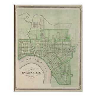 Plan of Evansville, Vanderburgh Co Poster
