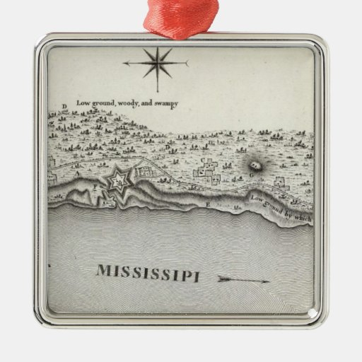Plan Of Fort Baton Rouge Christmas Tree Ornaments