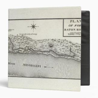 Plan Of Fort Baton Rouge Vinyl Binder
