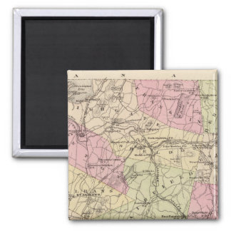 Plan of Grand Isle and Franklin in Vermont 2 Inch Square Magnet