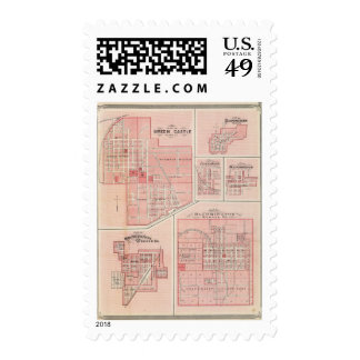 Plan of Green Castle, Putnam Co with Bloomington Stamp