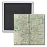 Plan of Indianapolis 2 Inch Square Magnet