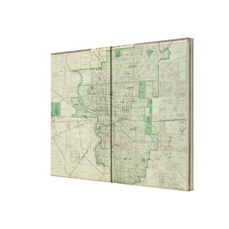 Plan of Indianapolis Canvas Print
