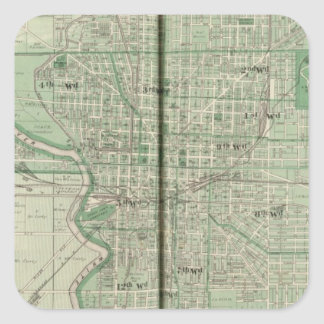 Plan of Indianapolis Square Sticker