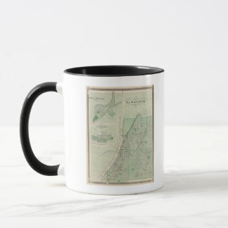 Plan of La Fayette with Battle Ground City Mug
