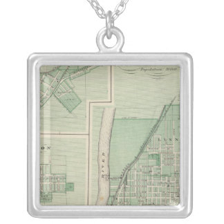 Plan of La Fayette with Battle Ground City Square Pendant Necklace