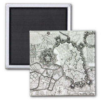 Plan of Lisle, 1736 2 Inch Square Magnet