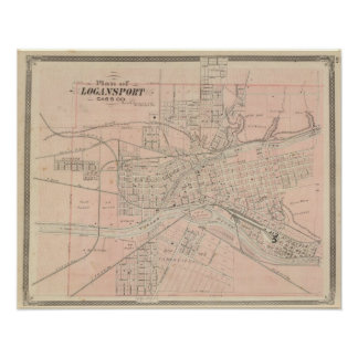 Plan of Logansport, Cass Co Poster
