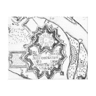 Plan of Mannheim, Germany 1690 Canvas Print