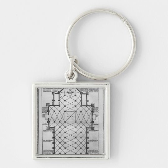 Plan of Milan Cathedral Keychain