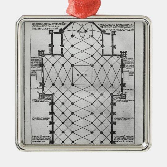 Plan of Milan Cathedral Metal Ornament
