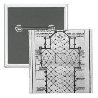 Plan of Milan Cathedral Pinback Button