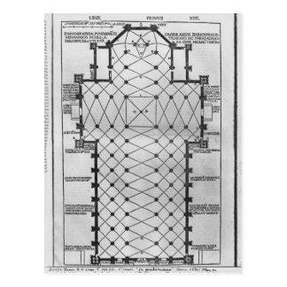 Plan of Milan Cathedral Postcard