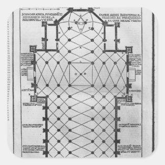 Plan of Milan Cathedral Square Sticker