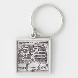 Plan of Moscow, 1628 Keychain