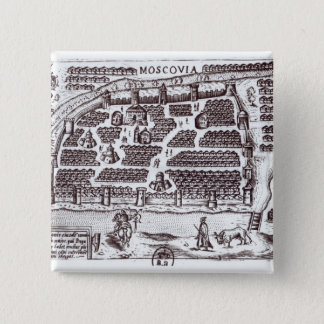 Plan of Moscow, 1628 Pinback Button