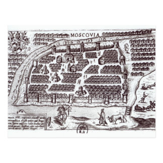 Plan of Moscow, 1628 Postcard