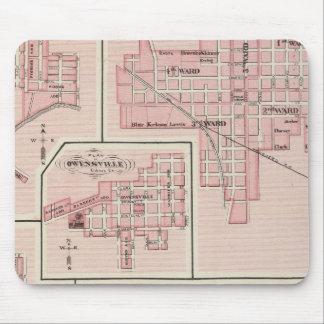 Plan of Mount Vernon, Posey County with Patoka Mouse Pad