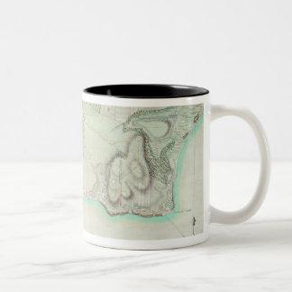 Plan of New York, 1776 Two-Tone Coffee Mug