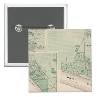Plan of Newburgh, Warrick Co with Boonville 2 Inch Square Button