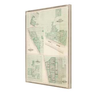 Plan of Newburgh, Warrick Co with Boonville Canvas Print