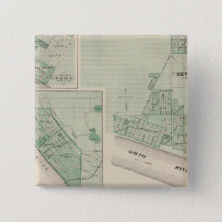 Plan of Newburgh, Warrick Co with Boonville Pinback Button