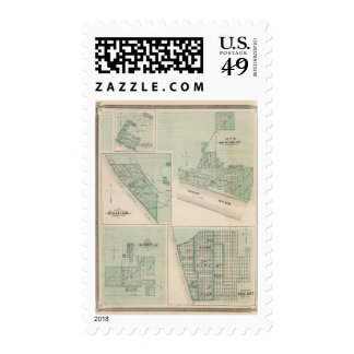 Plan of Newburgh, Warrick Co with Boonville Stamps