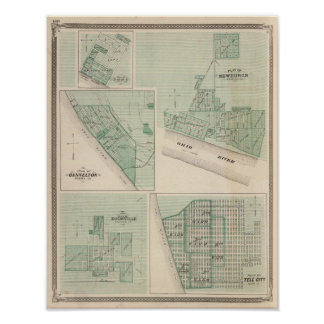Plan of Newburgh, Warrick Co with Boonville Poster