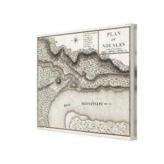 Plan Of Nogales Canvas Print