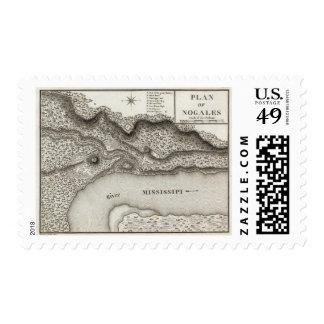Plan Of Nogales Stamp