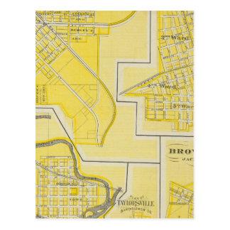 Plan of North Vernon, Jennings Co with Vernon Postcard