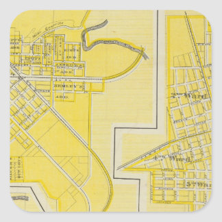 Plan of North Vernon, Jennings Co with Vernon Square Sticker