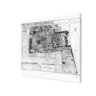 Plan of Parc Monceau in Paris Canvas Print