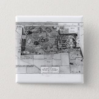 Plan of Parc Monceau in Paris Pinback Button