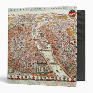 Plan of Paris bordered by a chronological 3 Ring Binder