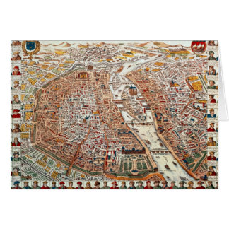 Plan of Paris bordered by a chronological Card