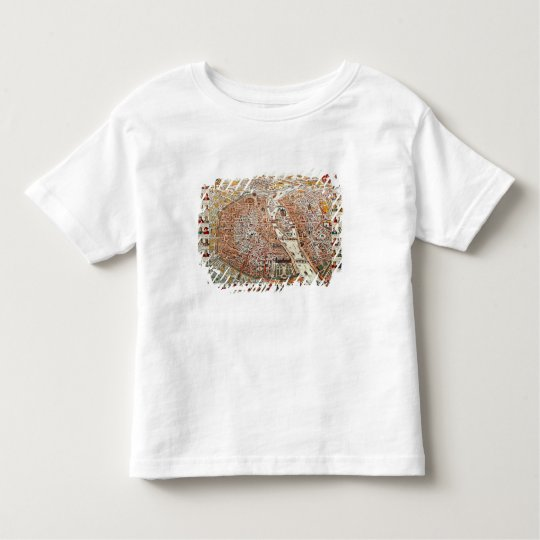 Plan of Paris bordered by a chronological Toddler T-shirt