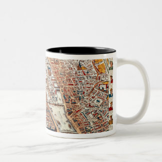 Plan of Paris bordered by a chronological Two-Tone Coffee Mug