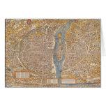 Plan of Paris by Truschet et Hoyau Circa 1550 Card