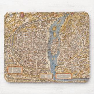 Plan of Paris by Truschet et Hoyau Circa 1550 Mouse Pad