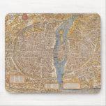 Plan of Paris by Truschet et Hoyau Circa 1550 Mouse Pads