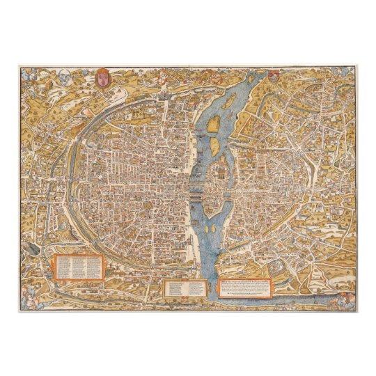 Plan of Paris by Truschet et Hoyau Circa 1550 Photo Print