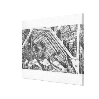 Plan of Paris Canvas Print
