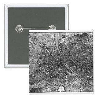 Plan of Paris, known as the 'Plan de Turgot' Pins