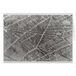 Plan of Paris, known as the 'Plan de Turgot' Card