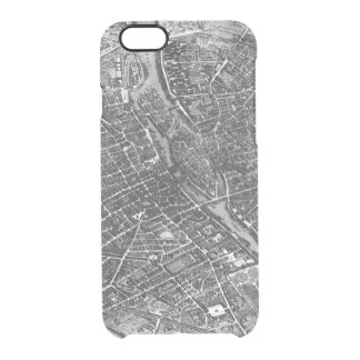 Plan of Paris, known as the 'Plan de Turgot' Clear iPhone 6/6S Case