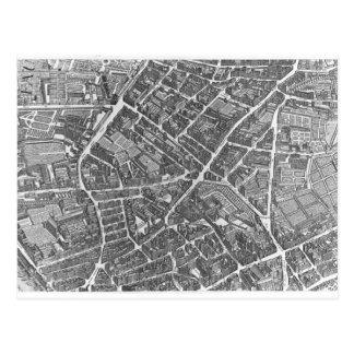 Plan of Paris Postcard